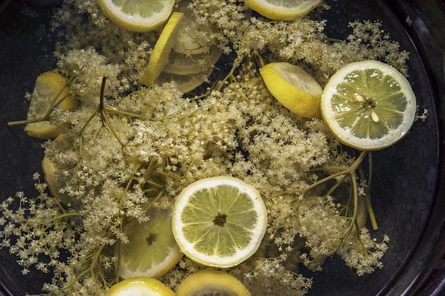 Holunder-mit-Zitronen